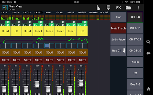 Mixing Station XM32 Pro Screenshot