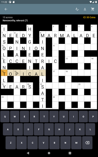 Serious Crosswords - free crossword every day 1.52 screenshots 7