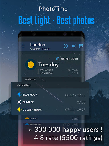 Phototime: golden hour and blue hour photography 3.4.5 screenshots 1