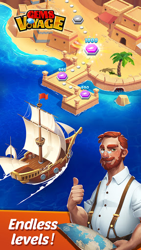 Gems Voyage - Match 3 & Jewel Blast 1.0.07 screenshots 4