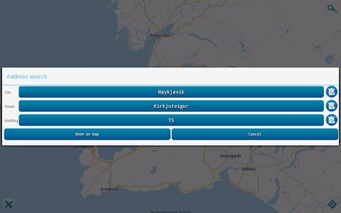 Map of Iceland offline