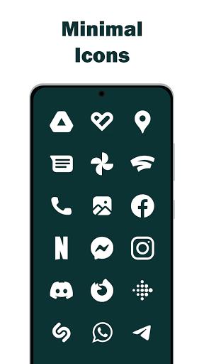 Download APK: Minimal | Simple | Clean – White Icon Pack v5.7 [Mod] [Sap]