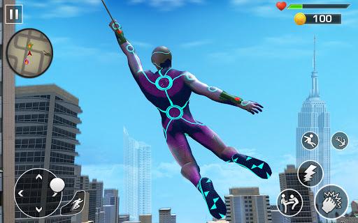 Super Rope Hero Spider Fight Miami City Gangster  screenshots 8