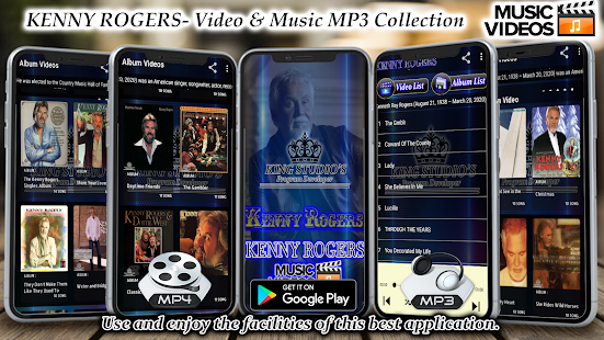 Kenny Rogers Offline Mp3 Video Album Collection Apps On Google Play