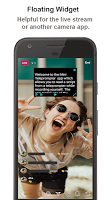 Mini Teleprompter & video with widget