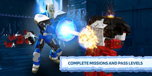 Ice Superhero Flying Robot - Fighting Games  Pc-softi 1