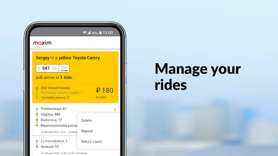 maxim — order taxi, food and groceries delivery 4