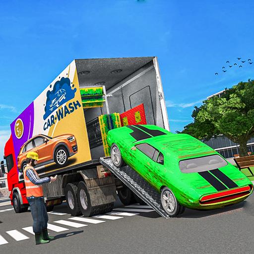 Car Wash Service Truck Game - Car Mechanic 3D