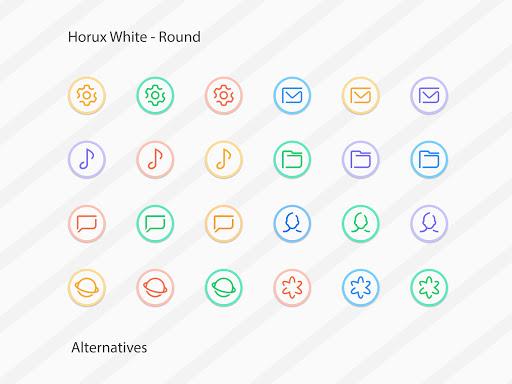 Horux White - Round Icon Pack