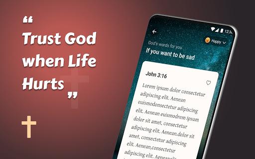 King James Bible (KJV) - Free Bible Verses + Audio android2mod screenshots 3