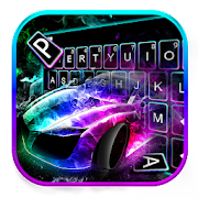 Color flame Sports Car Keyboard