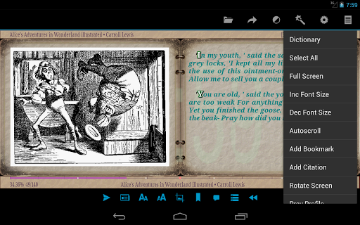 AlReader -any text book reader 1.931910300 Screenshots 22
