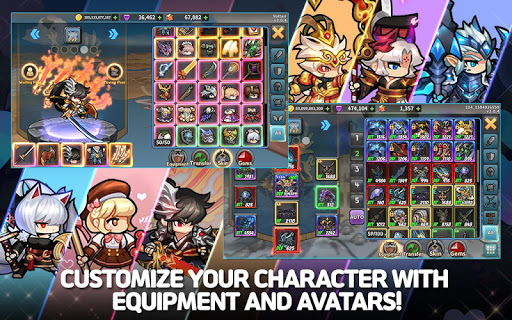 Raid the Dungeon : Idle RPG Heroes AFK or Tap Tap apkmr screenshots 12