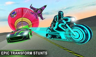 Crazy Car Stunt Light Car Transform GT Racing Game