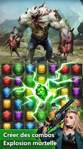 Télécharger Zombies & Puzzles: RPG Match 3 APK MOD (Astuce) screenshots 2