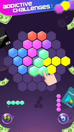 Lucky Hexa! u2013 Hexa Puzzle & Block Puzzle Big Win apkpoly screenshots 2