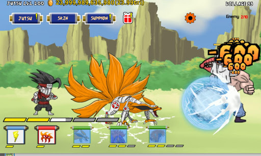 tap tap ninja jutsu screenshot 1