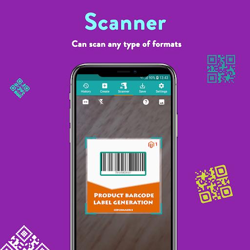 QR Code & Barcode: Scanner, Reader, Creator android2mod screenshots 2