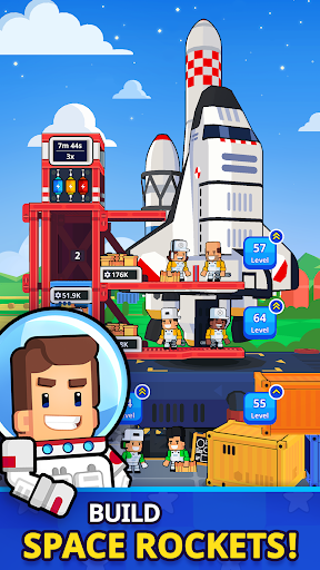 Rocket Star - Idle Space Factory Tycoon Game screenshots 1