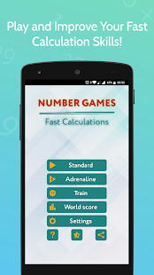 Number Games : Fast Calculations - super math Screenshot