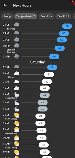 Shadow Weather: Hyperlocal forecast & radar  Screenshots 5
