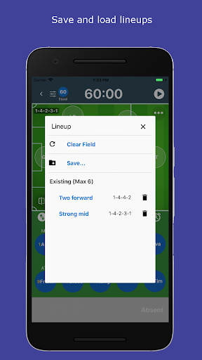 subtime: playing time and sub tracking for coaches screenshot 3