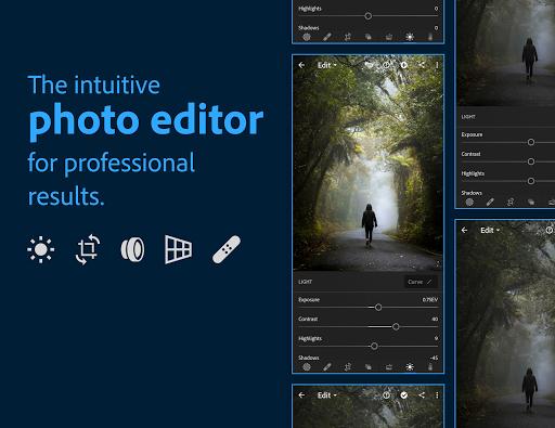 Adobe Lightroom - Photo Editor & Pro Camera screen 0
