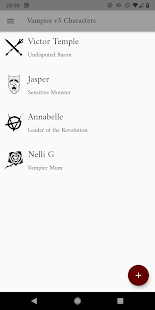 Vampire v5 Characters