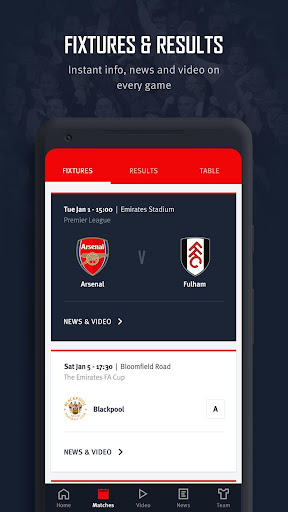 Arsenal Official App 6.0.3 Screenshots 4