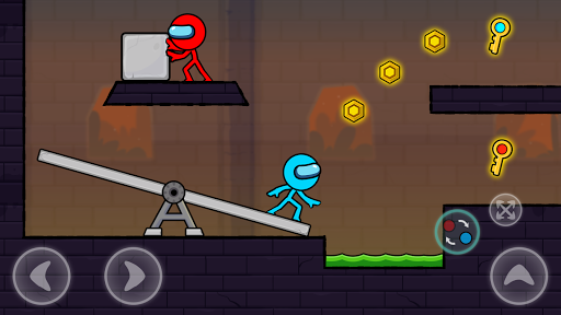 Red and Blue Stickman : Season 2 android2mod screenshots 2