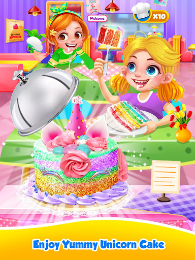 Unicorn Food - Sweet Rainbow Cake Desserts Bakery 3.1 screenshots 13