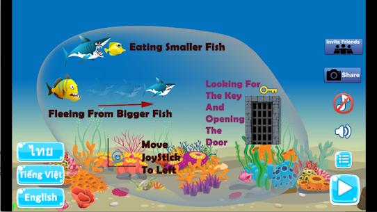 Shark Journey: Hungry Big Fish Eat Small and grow 5