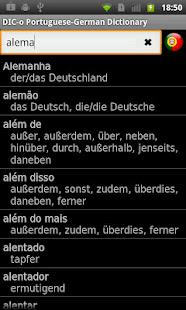 Portuguese-German offline dict