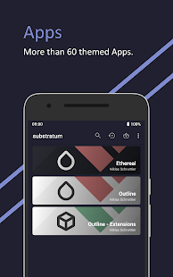 Ethereal for Substratum • Q, Pie, Oreo, Nougat Screenshot