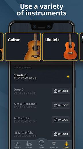 Chromatic Guitar Tuner Free: Ukulele, Bass, Violin 2.4.9 Screenshots 4