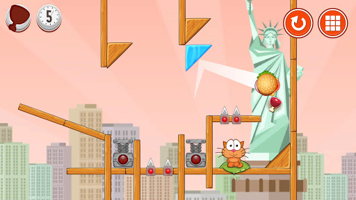 Hungry cat: physics puzzle game apkdebit screenshots 2