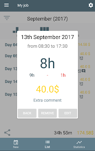 WorkIO (Working hours) Free