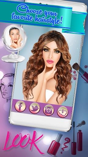 Hairstyle & Makeup Beauty Salon with Photo Effects  screenshots 2