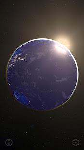 3D Earth & Real Moon. Live Wallpaper.