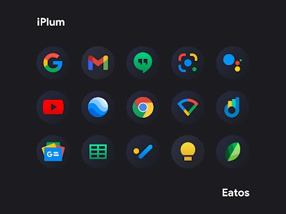 iPear Black APK- Round Icon Pack (PAID) Download 2