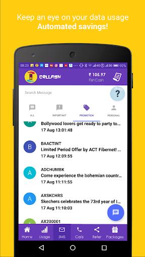 Cell.Fish - Safe SMS, Slick Dialer, Save Money Wiz apktram screenshots 1