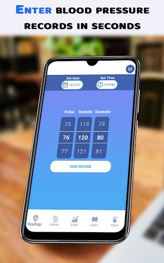 Blood pressure record maintain app - Track bp log hack tool