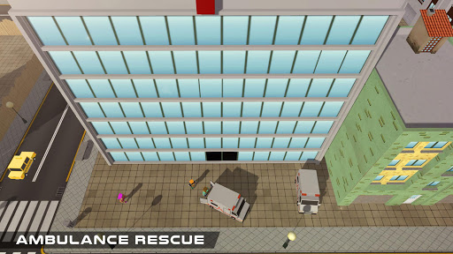 Blocky US Fire Truck & Army Ambulance Rescue Game apkmr screenshots 15