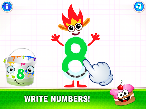 Learning numbers for kids! Writing Counting Games! apkslow screenshots 9