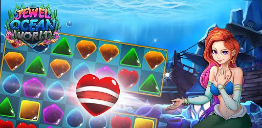 Jewel ocean world: Match-3 puzzle Apkfinish screenshots 2