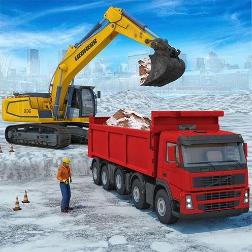 Snow excavator & road construction games 2020