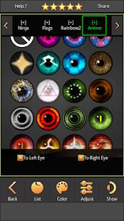 Sharingan - Eyes And Hair Color Changer 1.4.1 Screenshots 4
