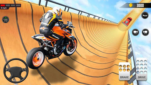 Impossible Mega Ramp Moto Bike Rider Stunts Racing  screenshots 8