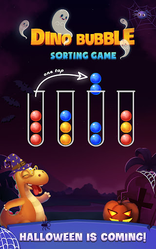 Color Ball Sort Puzzle - Dino Bubble Sorting Game  screenshots 1