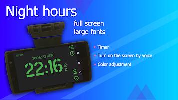 Full-screen digital clock. Timer. Alarm clock.